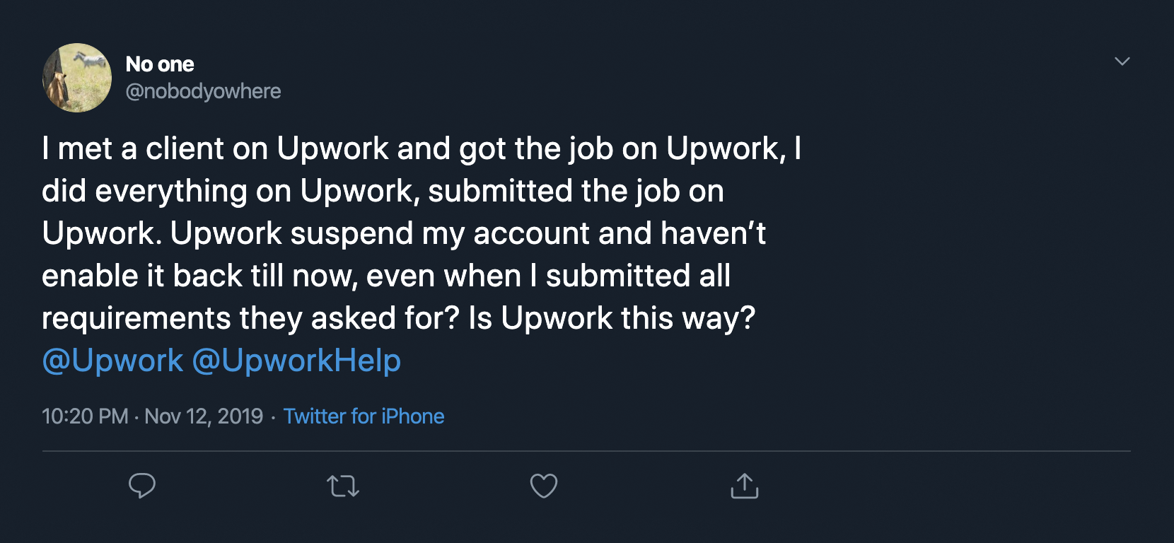 Upwork review from real customer 19