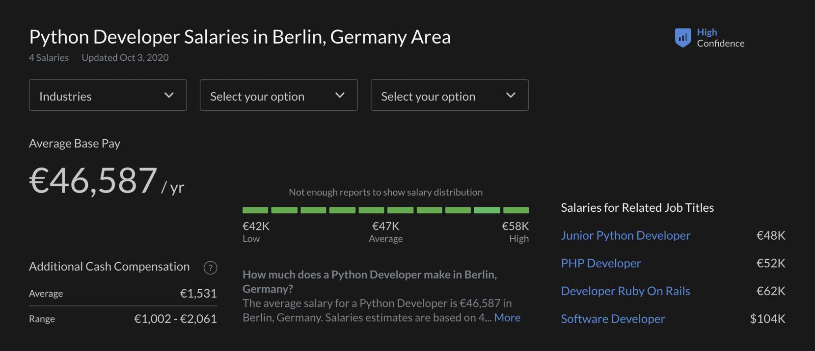 python devs salaries in germany