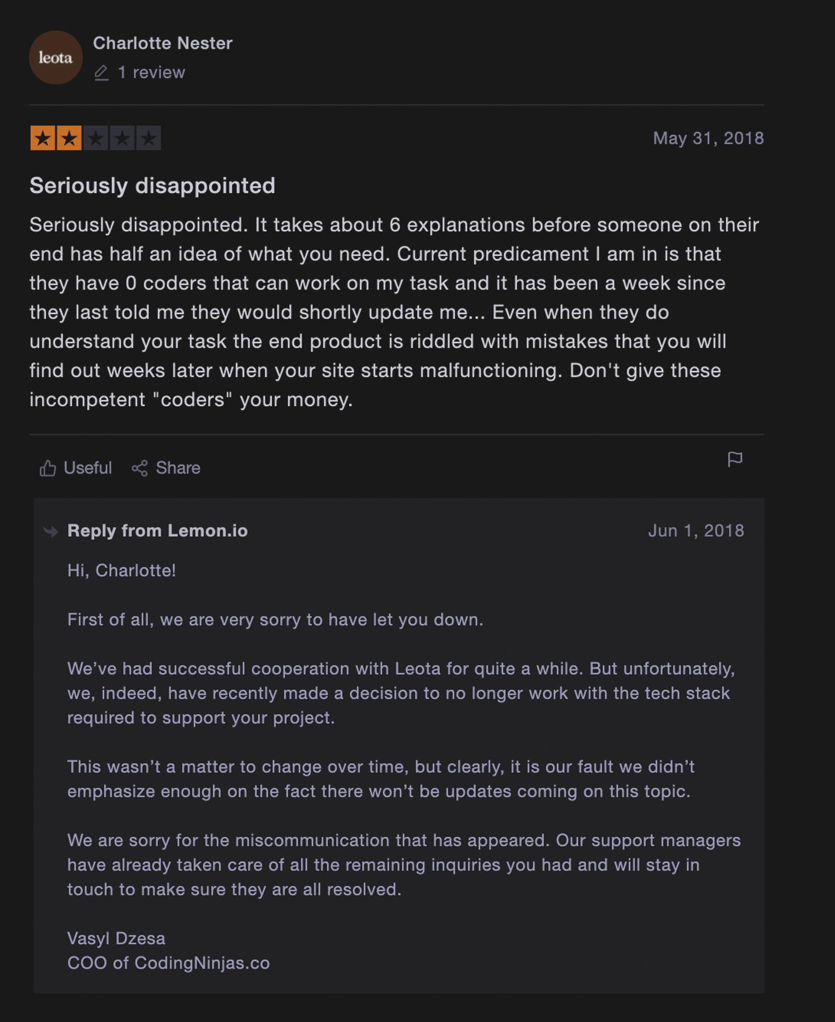 Honest lemon.io review 9