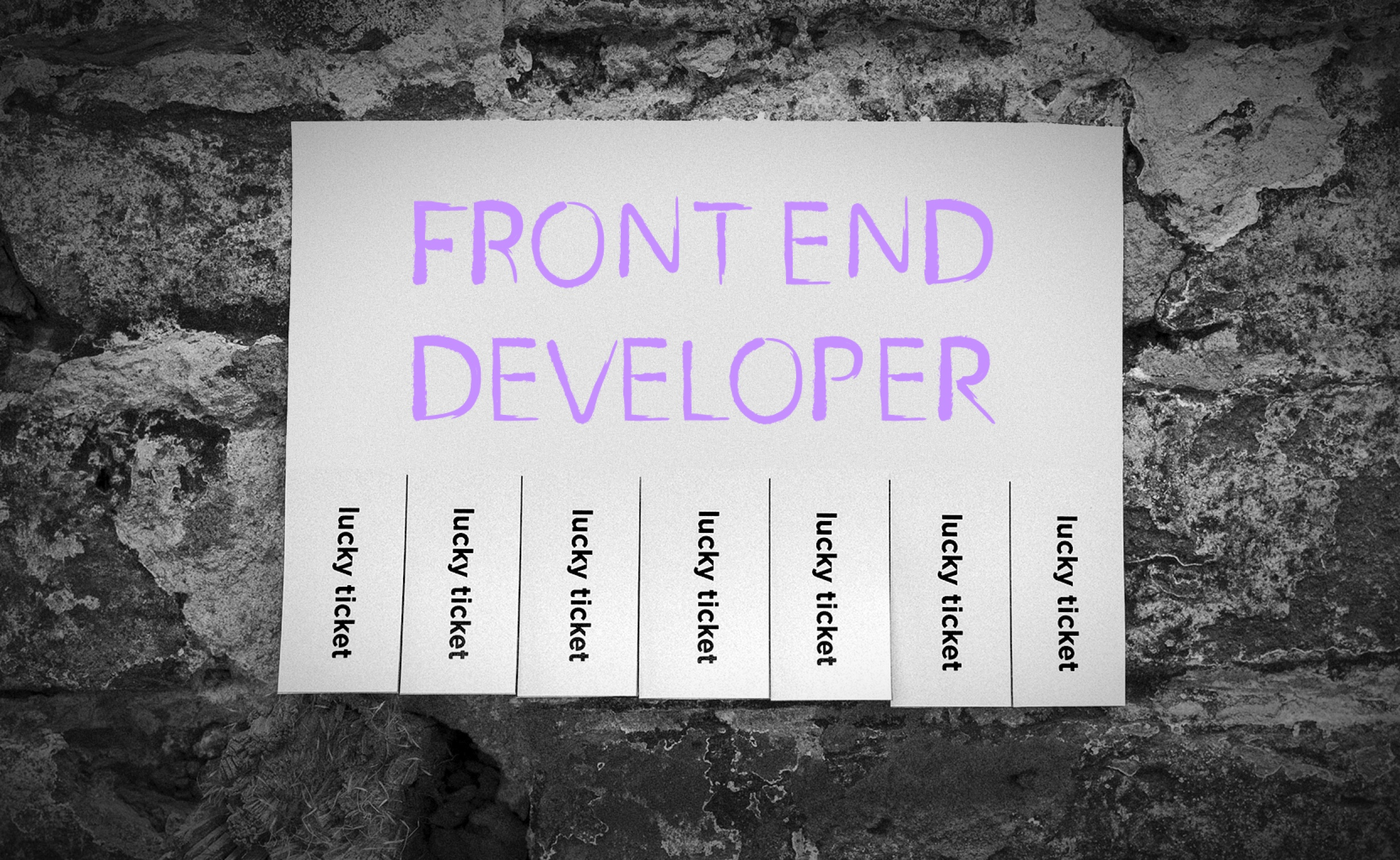 Lucky tickets for a frontend dev