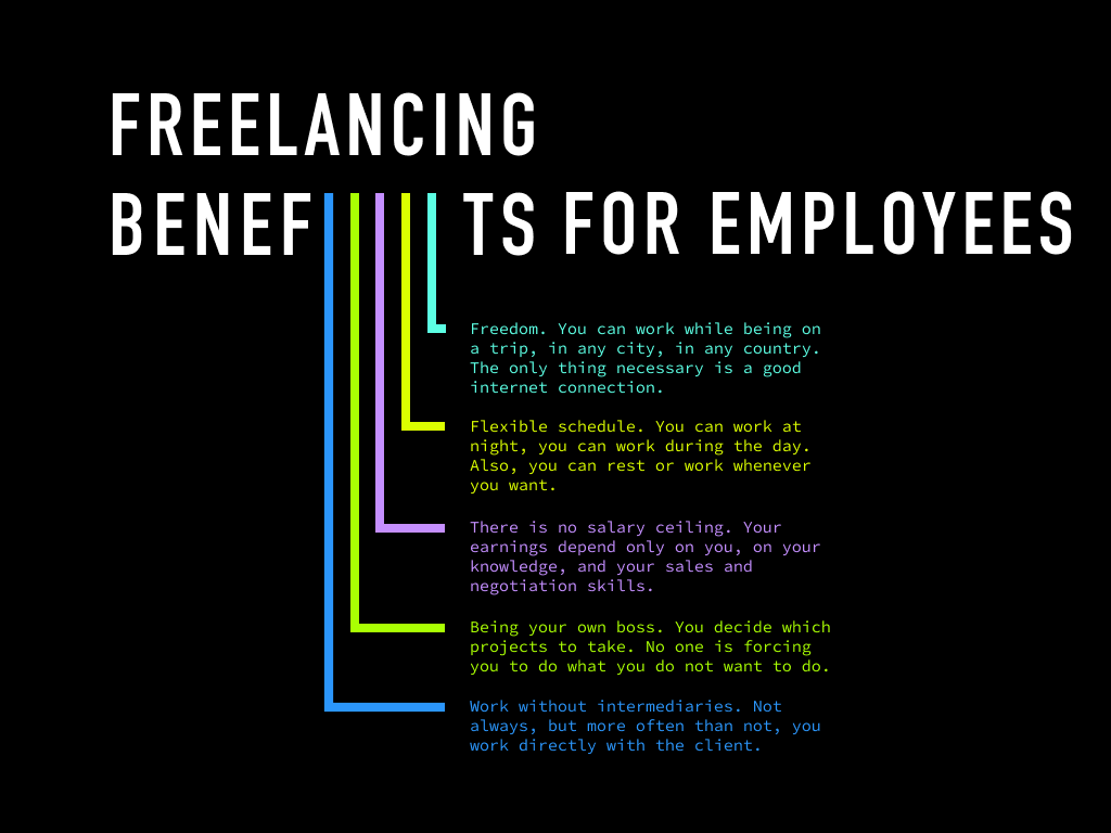 Freelancing benefits for employees